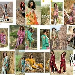 Cotton Gul Ahmed Embroidered Lawn Collection Suit Vol2 2017, Machine wash
