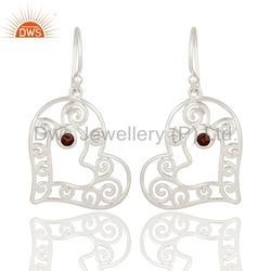 Heart Shape Sterling Silver Earring