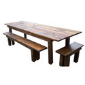Rustic Wood Outdoor Dining Table