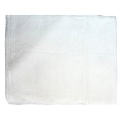 White Patterned Linen Fabric