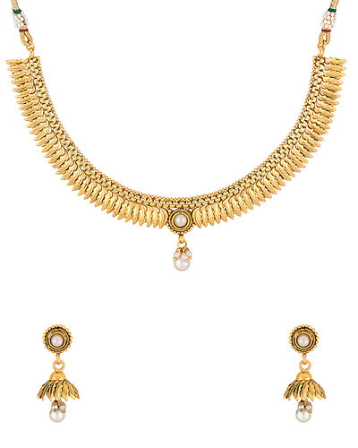 5d01debe61d Jewellery Sets - Endearing Necklace Set Embellished With Pearls And Colored  S Retailer from Jaipur