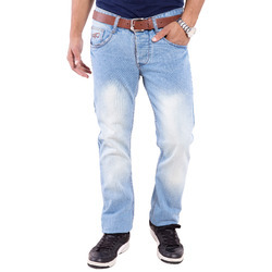 Ice Blue Denim Men Slim Fit Jeans
