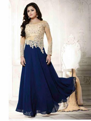 Designer Ladies Gown at Rs 450 /piece(s) | Ladies Gown Suit, Ladies ...
