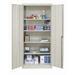 Grey Steel Cupboard, Size: 78 x 36 x 19 inch