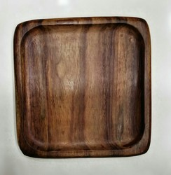 Brown Wooden Plate