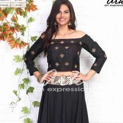 Skirt With Crop Top Off Shoulder