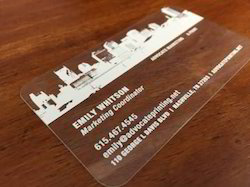 Acrylic Visiting Card