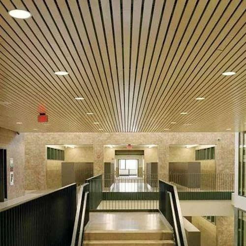 Aluminum Linear False Ceiling Rs 120 Square Feet Neci