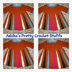 Baby Crochet Sweater / Frock for Winter
