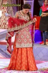 Chiffon Full Sleeves Bridal Sharara, Packaging Type: Box