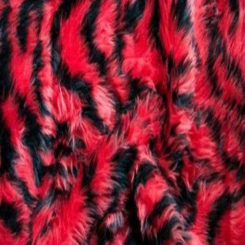 CERISE PINK TIGER Animal Fun Faux Fur Fabric Material