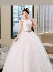 Christians Wedding Catholic Gown Work With Extra Sleeves
