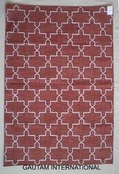 Woven Rectangle Flat Weave Cotton Rug