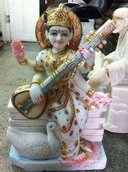 White Marble Saraswati