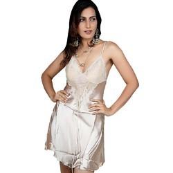 Silver Bridal Nighty Sleepwear 548