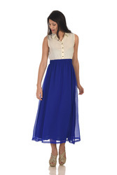 Georgette Dress With Lining