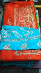 Designer Block Printing Suits Material