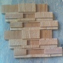 Teak 7Strip Stacking Mosaic Tile