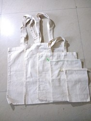Printed, Plain Plain Cotton Bags