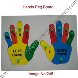 Hands Peg Board