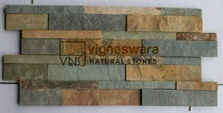 Polished Natural Rustic Slate Stone, For Exterior, Thickness: 12 Mm