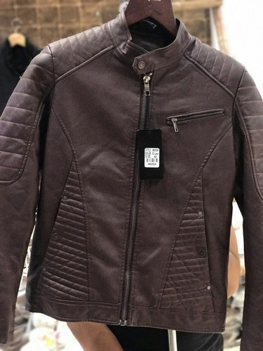 ade2fc41479 Pure Leather Full Sleeve Men Leather Jackets