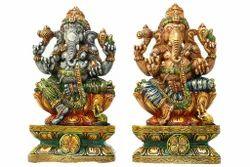 Divine Colourful Wooden Ganesha