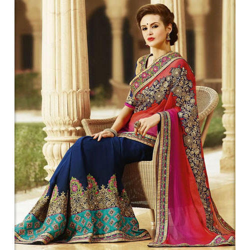 f23fc9b8f7 Party Wear Designer Saree at Rs 600 /piece | Fancy Sarees | ID ...