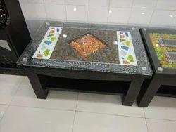 Black Wooden Fency Tea Table