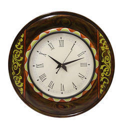 Multicolor Rangrage Wooden Wall Clock