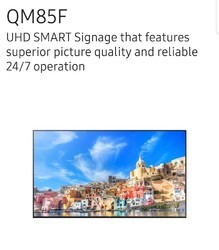 Samsung Professional Displays QM85F