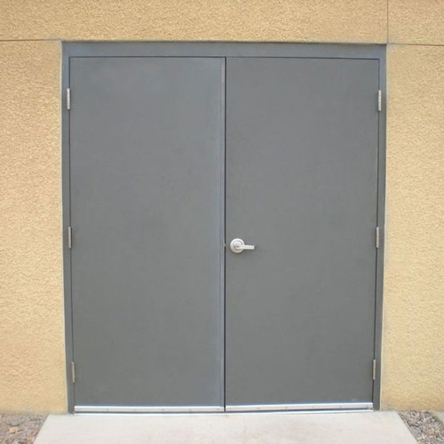 Defined Galvanized Steel Flush Doors, For Safety