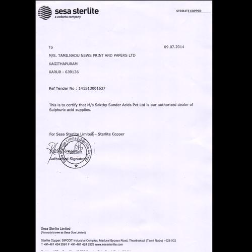 Sri Sakthy Acids And Chemicals - Manufacturer from Gandhipuram