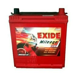 Red EXIDE BATTERY, Capacity: <40 Ah