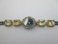 Amethyst, Tanzanite 2-tone Black Rhodium Silver Watches