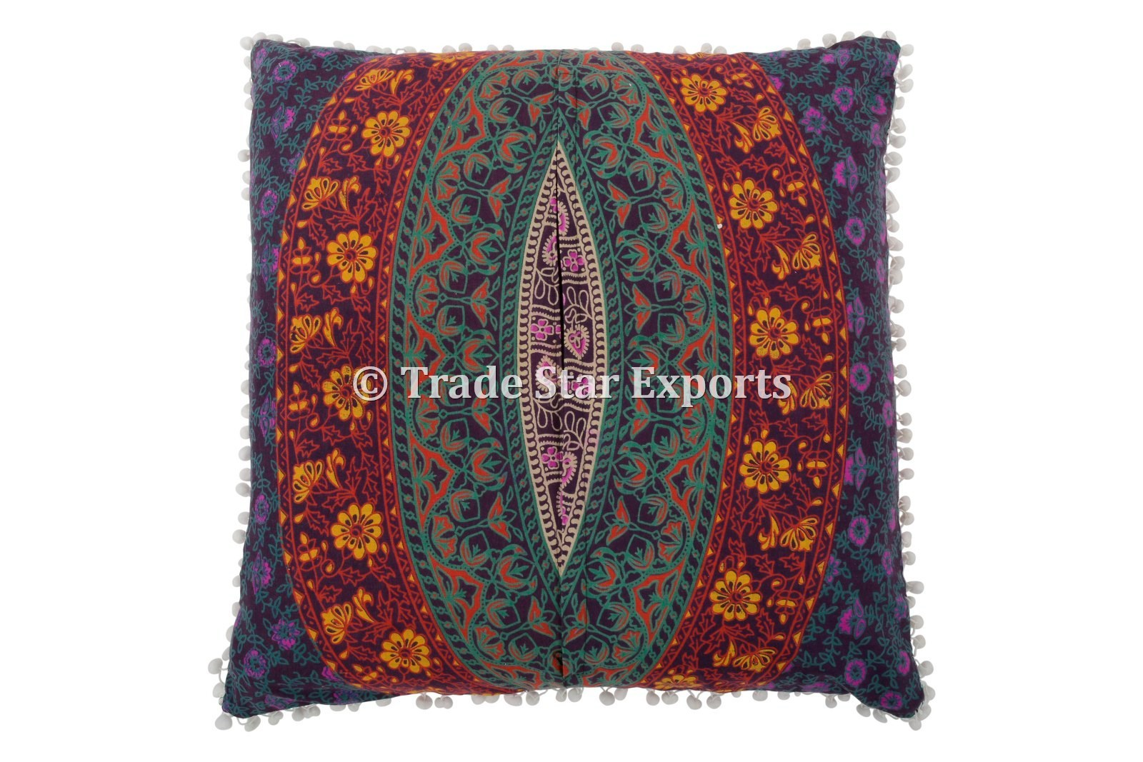 Mandala Indian Cotton Floral Euro Sham Pillow Sham Cover Size 66 X 66 Cms 26 X 26 Inches Rs 450 Piece Id 13785137073