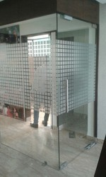 Hinged Printed 12 MM Glass Door, For Office