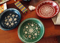 Decorative Hand Painted Terracotta Plates