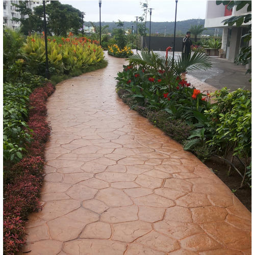 Stamp Concrete, For Hardscaping, Rs 60 /square Feet, Coral