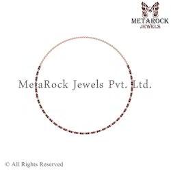 14k Rose Gold Garnet Gemstone Necklace Jewelry