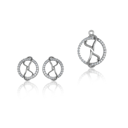 Ultra-shine D'epaysant Pendant Set 925 Sterling Silver