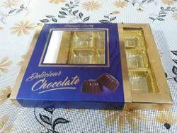 Paperboard Rectangular Chocolate Packaging Boxes, For For Chocolate Packaging