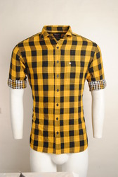 Yellow Urban Design Casual Shirts