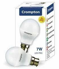 Cool daylight 12 W Crompton LED Bulb 7w, Base Type: B22, Type of Lighting Application: Outdoor Lighting
