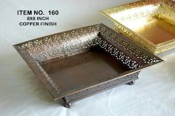 Diwali Gift- Copper Plated Tray