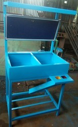 Blue Metal Material inspection Table, Size: 1850x650x500, Warranty: 1 Year