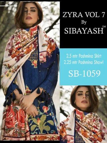 09e03cfd4f Pashmina Digital Print Suits, डिजिटल प्रिंटेड सूट ...