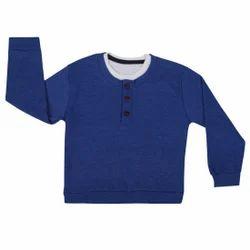 Kids Plain Full Sleeve T Shirt