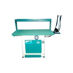 Mild Steel White & Pale Blue In-Build Boiler Vacuum Ironing Table, For Industial & Laundry