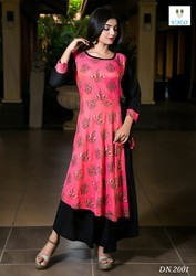 Double Top Rayon Kurtis